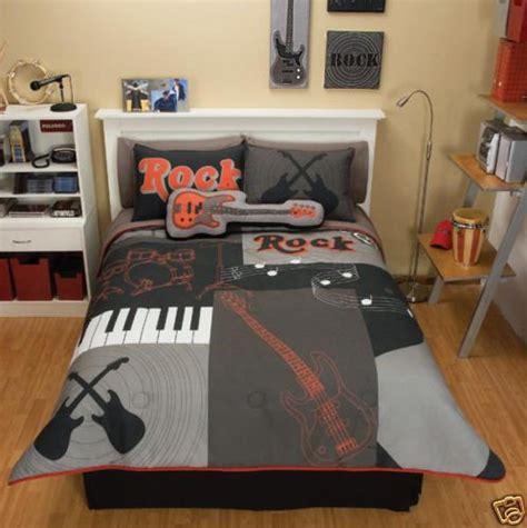 grey red guitar comforter bedding set twin reviews