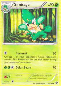 simisage pokemon x and y card review