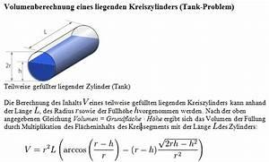 Liegender Zylinder Füllhöhe Berechnen : volumenberechnung liegender zylinder ~ Themetempest.com Abrechnung