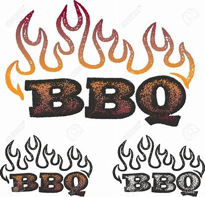 Bbq Barbecue Clipart Graphic Flames Graphics Text
