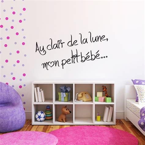stickers de pour chambre sticker phrase pour chambre d 39 enfant au clair de la lune