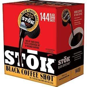 These stok coffee shots are cold brewed and are easy to add to your hot cup of joe for added kick. Amazon.com: Stok Black Coffee Shots 144 Shots: Kitchen & Dining