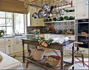 tear sheets: rustic kitchen island love