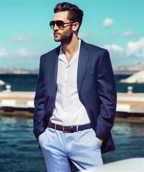 mens navy blazer white dress shirt light blue dress