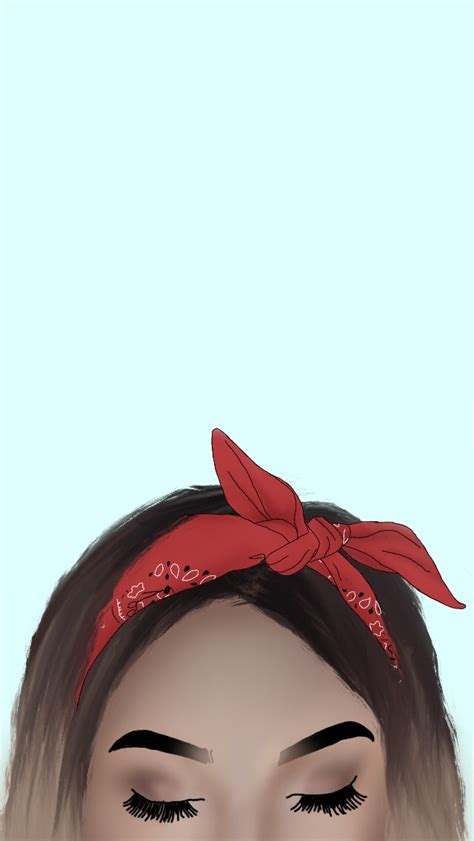 Then, to create a symmetrical face, you have to draw 3 guidelines for the jaw. FreeToEdit drawing draw girl bandana...
