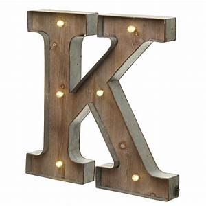 Light up led letter k laura godbold design for Light letters for sale
