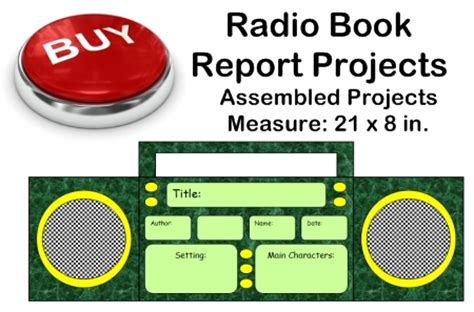 radio book report project templates worksheets grading