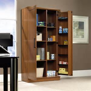 sauder home plus sienna oak double storage cabinet 411965