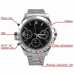 Cronograph Spy Camera Watch