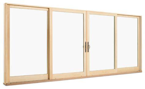 integrity wood ultrex 4 panel sliding door patio