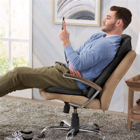 ineed shiatsu seat topper with heat at brookstone buy now