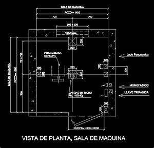Elevator Machine Room In Autocad