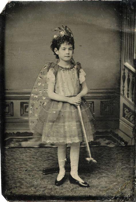 girl dressed   angel  magic stick antique