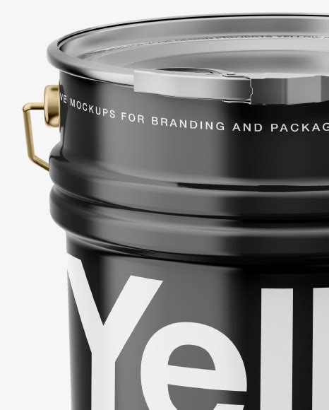 A fully layered pdf file with smart objects, the dimensions are 3500 x 3000 px at 300 dpi. 20L Metallic Paint Bucket Mockup in Bucket & Pail Mockups ...