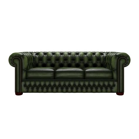 chesterfield settees uk chesterfield 3 seater bed settee antique green from