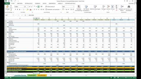 tutorial excel vorlage liquiditaetsplanung einfuehrung