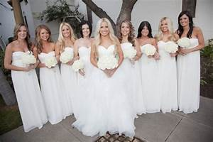how to plan a wedding ceremony bridal party With white dresses for wedding ceremony