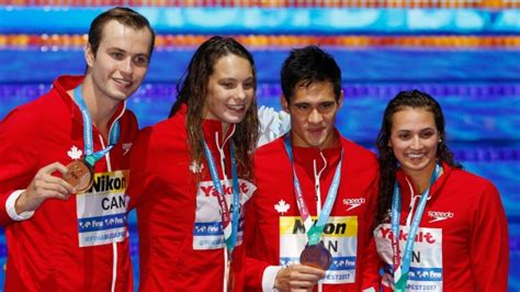 Canada claims bronze in 4x1-mixed medley relay at world ...