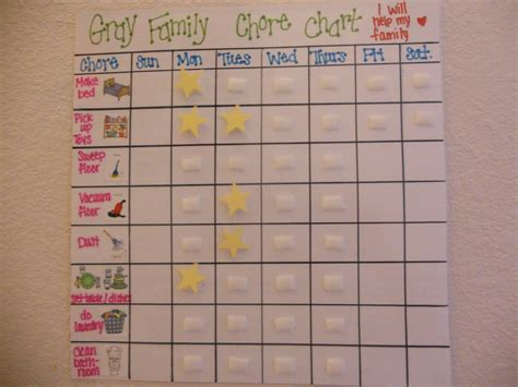 preschool chore chart template chore chart ideas chore 594 | a7afe3af7240b7319d2e28aa1720f565