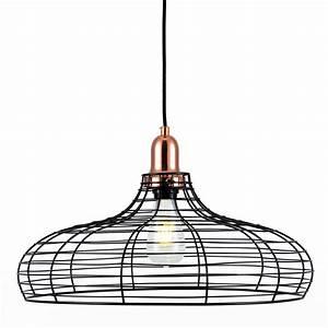 Suspension Noir Et Cuivre : suspension vasilis noire et cuivre koya design ~ Melissatoandfro.com Idées de Décoration