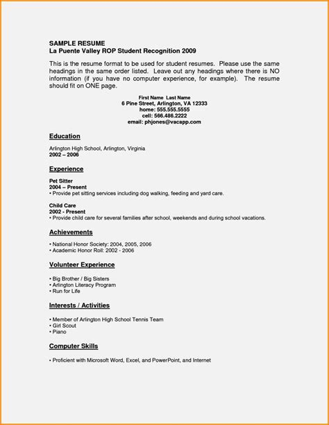 year resume cover letter 16 year resume sle resume template cover letter