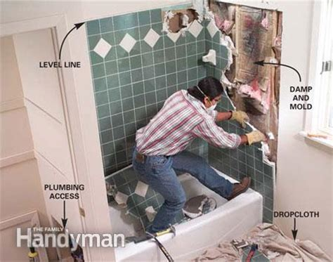 Replace Bathroom Tiles by General Guide On How To Replace A Bathtub How To S