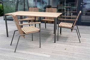 Salon De Jardin Bistrot : salon de jardin table bistrot rectangle 95x166 cm et 4 fauteuils axis en m tal acier de couleur ~ Teatrodelosmanantiales.com Idées de Décoration
