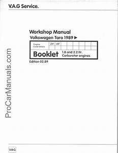 Vw Taro 2y 4y Engine Repair Manual  U2013 Pdf Download