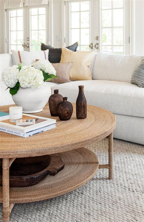 Inviting, soft lines, flexible and beautiful: Hacks for Round Coffee Table Styling - Studio McGee in 2020   Round coffee table decor, Round ...