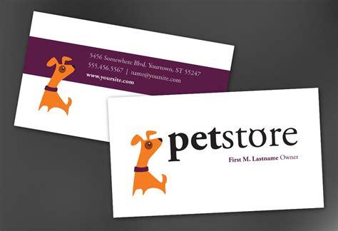 Business Card Template For Pet Store Design. Order Custom