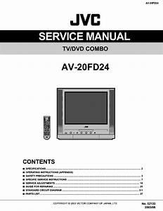 Jvc Av 20fd24 Tv Dvd Combo Schematic Diagram Manual