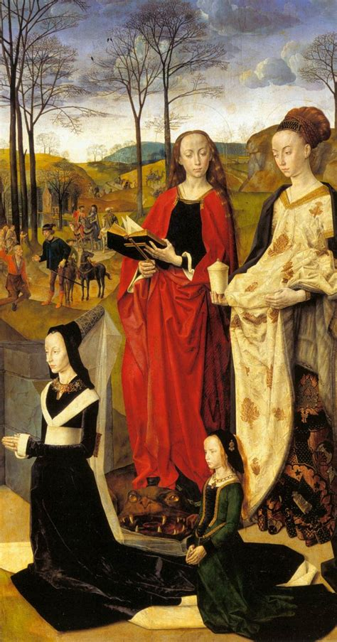 ghent wing sts margaret and magdalene with portinari by