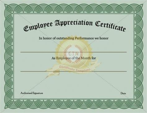 httpwwwcertificate templatenetemployee appreciation