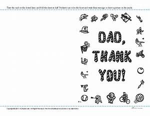 Printable Father's Day Activity | Thank You Card