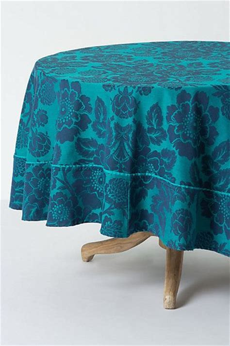 Magnolia Jacquard Tablecloth, Round #anthropologie   If I