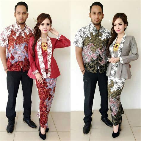 jual baju batik couple kebaya sarimbit model khanza abu