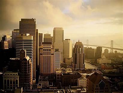 Francisco San Skyline Wallpapers York Cities Cityscape