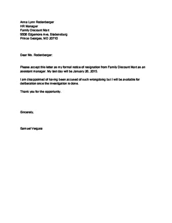 Leave in Style Create a Personalized Resignation Letter While Changing Jobs - Rego Medical