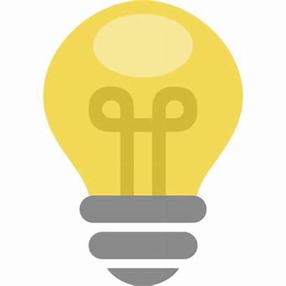 Icon Bulb Idea Thinking Flat Profile Newdesignfile