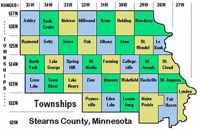 Stearns County Townships Map Meeker Township Maps
