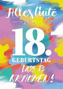 Geburtstagsbilder Zum 18 : dein 18 geburtstag lass es krachen geburtstag ~ A.2002-acura-tl-radio.info Haus und Dekorationen