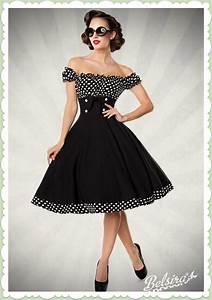 50er Jahre Style : belsira 50er jahre rockabilly petticoat kleid claire schwarz wei ~ Sanjose-hotels-ca.com Haus und Dekorationen