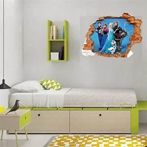 Mur Trompe L Oeil : sticker trompe l 39 oeil 3d mur d chir reine des neiges ~ Melissatoandfro.com Idées de Décoration