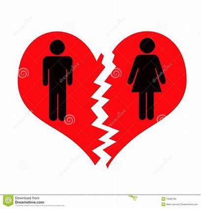 Breaking Clipart Breakup Break Divorce Couple Vector