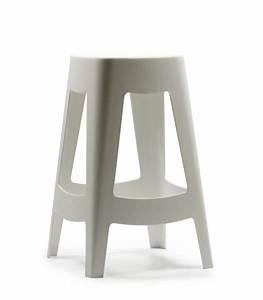 Bar Exterieur Design : tabouret de bar ext rieur design empilable en plastique blanc wadiga ~ Melissatoandfro.com Idées de Décoration