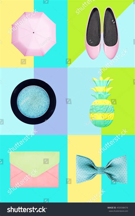 accessories abstract collage stock photo