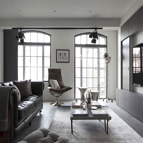 loft apartment by olivier burns luxury loft apartment living room by oliver burns custom now Industrial