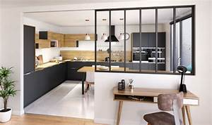 marvelous photo cuisine semi ouverte 3 cuisine avec une With idee deco cuisine avec table esprit scandinave