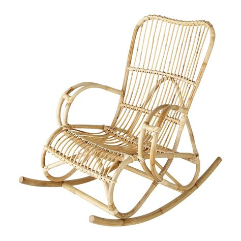 chaise rockincher rotan schommelstoel louisiane maisons du monde