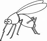Coloring Insect Mosquito Pages Printable Bug Drawing Fun Insects sketch template